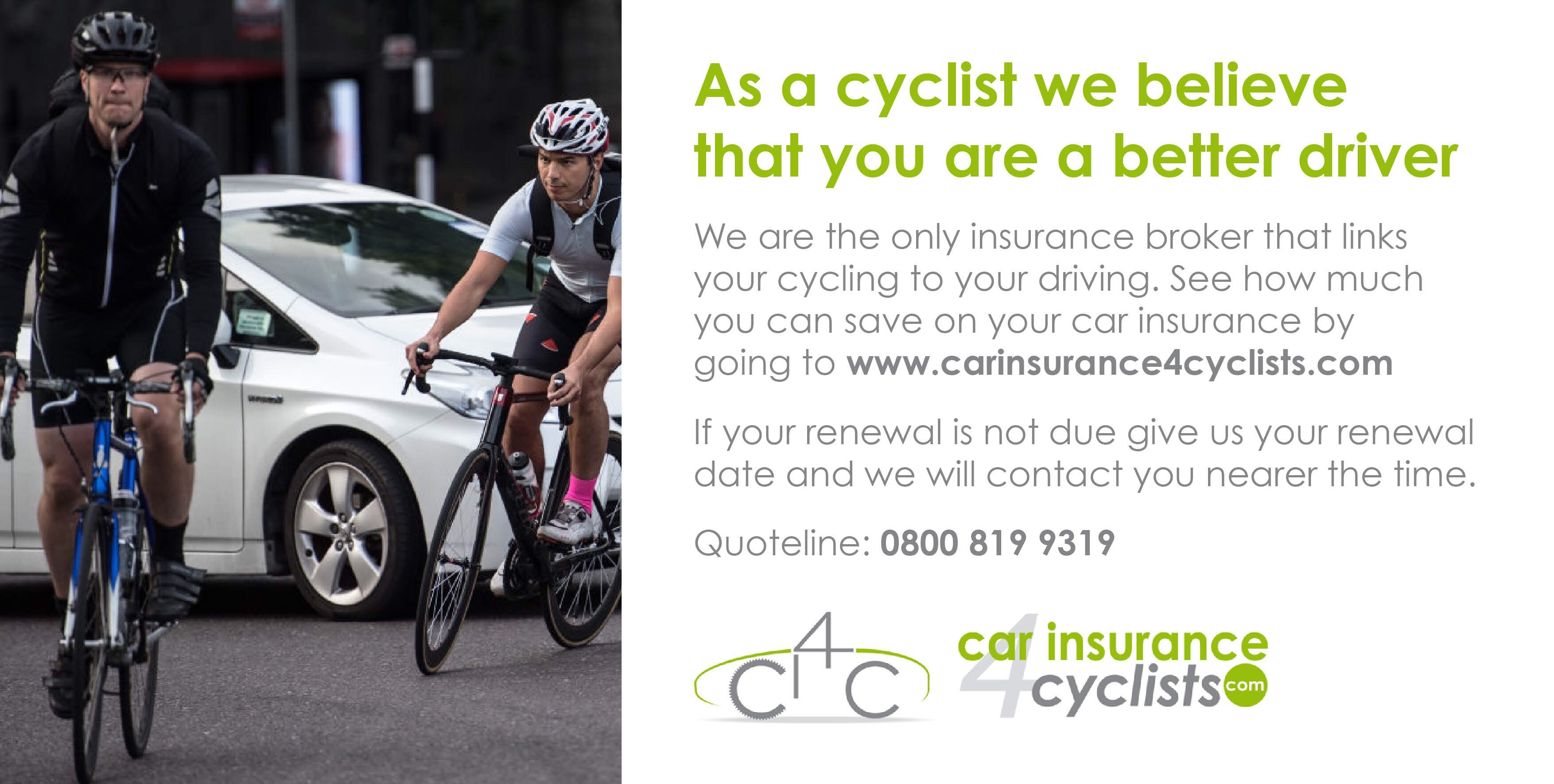 car insurance for cyclists